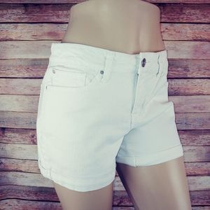 Faded Glory white stretch jeans shorts 10